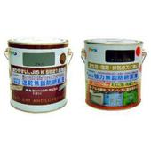 日本製鐵製品防鏽油性琺瑯面漆0.7L+鐵製品防鏽速乾底漆鼠灰0.7L