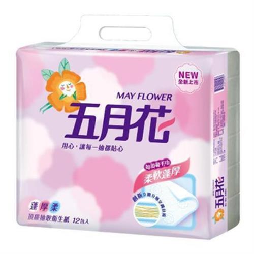 五月花 蓬厚柔抽取衛生紙(100抽*12包/串)