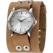 《Calvin Klein》酷炫寬版休閒風個性腕錶-卡其色 K5711138