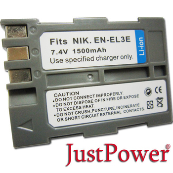 Just Power Just Power Nikon D700 D70 D70S 1500 mAh 數位相機鋰電池(EN-EL3E)