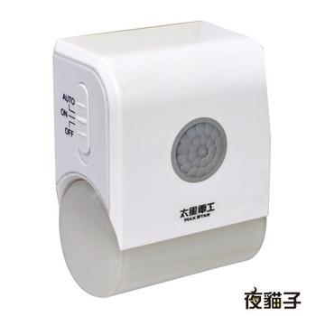 《太星電工》夜貓子LED壁插型感應燈 WD721