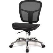 《aaronation》高韌性全網布金屬腳辦公椅~四色可選(黑)
