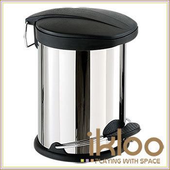 ikloo 不鏽鋼腳踏垃圾桶-12L(台灣製造)
