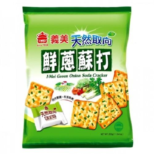 《義美》天然取向鮮蔥蘇打餅(330g/袋)