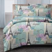 《GALATEA》藍巴黎風情。山寧泰防蟎抗菌系列單人三件式被套床包組