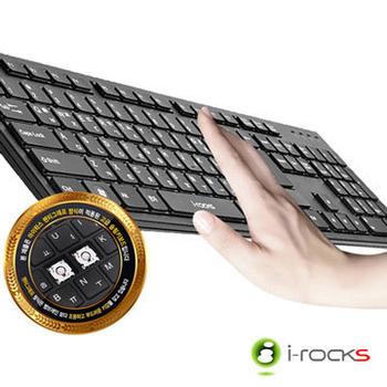i-rocks RF-6430 2.4GHz 無線懸浮式巧克力鍵盤(黑)