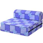 《戀香》單人小沙發床(楓葉藍)