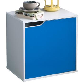 Frama 粉彩單格單門組合收納櫃-5色(藍白色)