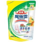 《魔術靈》地板清潔劑補充包-鮮採檸檬(1800ml/包)