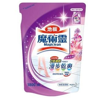 《魔術靈》地板清潔劑補充包-晨露花香(1800ml/包)