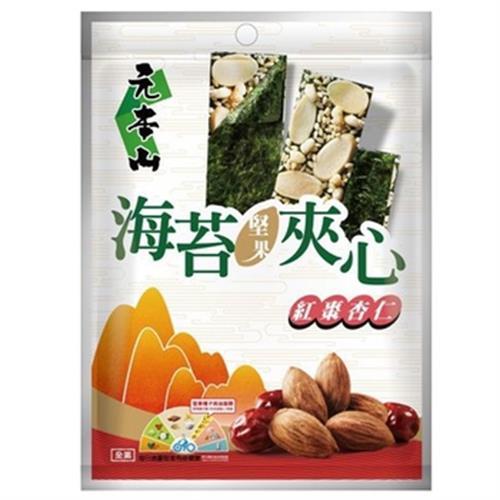 聯華 元本山海苔堅果夾心-紅棗杏仁風味(60g/袋)