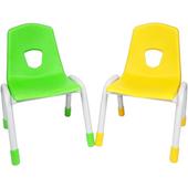 《時尚屋》歡樂幼兒椅2入(綠&黃)