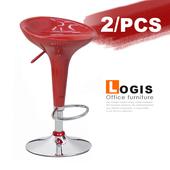 《LOGIS》貝瑞絲吧台椅-2入(紅+紅)