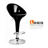 《LOGIS》優達利吧台椅-三色(黑)