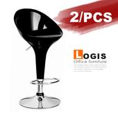 《LOGIS》優達利吧台椅-2入(黑+黑)