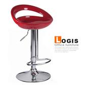 《LOGIS》納克龍吧台椅-三色(紅)