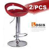 《LOGIS》納克龍吧台椅-2入(紅+紅)