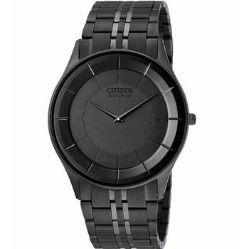 CITIZEN Eco-Drive 光動能超薄腕錶(AR3015-61E-IP黑)