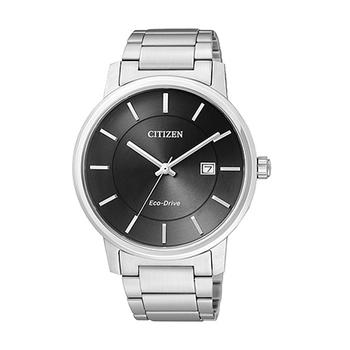 CITIZEN 光動能時尚鋼帶錶-黑面(BM6750-59E)
