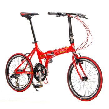 FUSIN FA700-20吋鋁合金24速Shimano定位變速摺疊車/腳踏車(熱情紅)