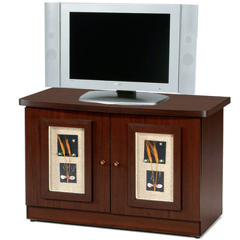 Homelike 自然風味雙門電視櫃(胡桃木紋)