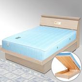 《Homelike》席歐3.5尺掀床組+獨立筒床墊-單人(白橡木紋)