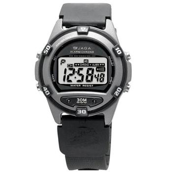 JAGA捷卡 M267游泳指定 防水多功能運動電子錶(黑色)