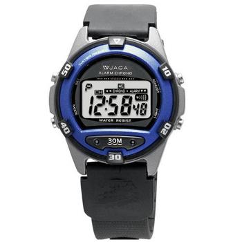 JAGA捷卡 M267游泳指定 防水多功能運動電子錶(黑藍)