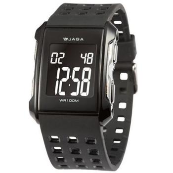 JAGA捷卡 M807游泳指定100米多功能電子錶(黑色)