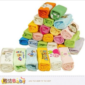 魔法Baby 純棉寶寶長袖連身包屁衣(男生.女生款,5件一包裝)~嬰兒內著~k32802(女生款/9個月)