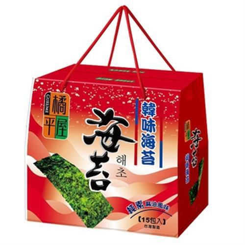 橘平屋 韓味海苔禮盒-麻油口味(75g/盒)