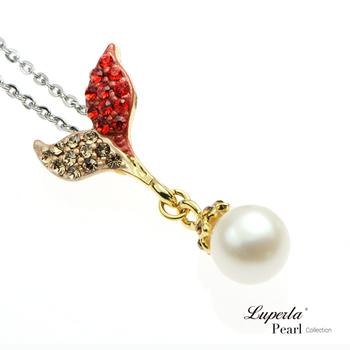 大東山珠寶 Luperla L&H童話森林系列 幸運魔豆苗珍珠項鍊(豔麗紅)