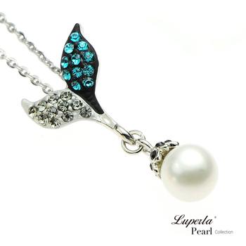 大東山珠寶 Luperla L&H童話森林系列 幸運魔豆苗珍珠項鍊(幻彩藍)