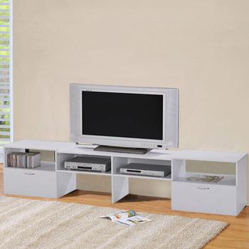 LOGIS 多功能伸縮組合電視櫃-2色(純白)