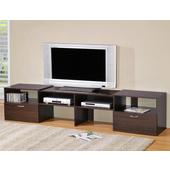 《LOGIS》多功能伸縮組合電視櫃-2色(胡桃色)
