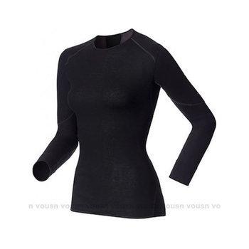 瑞士 ODLO X-WARM Effect-背部加強 保暖升級 女長袖機能型銀離子超保暖排汗保暖衣/155161(黑 XS)