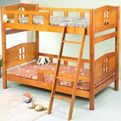 《BuyJM》小木屋3.5呎實木雙層床(原木色)