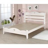 洛克實木雙人床(白色)