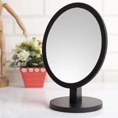 圓型可調式實木桌上鏡(胡桃木色)