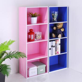 粉彩四層收納櫃-2色(粉紅)