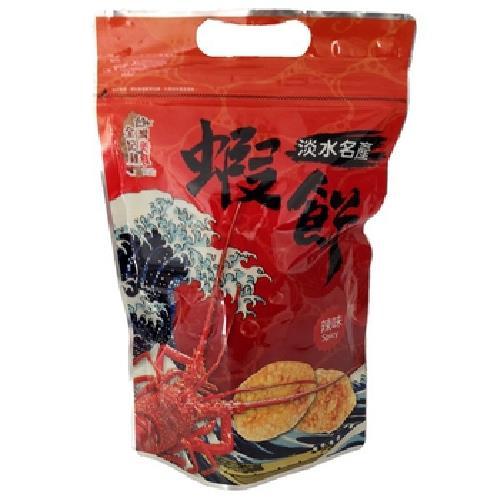 台灣美食全記錄 淡水蝦餅-辣味(90g/包)