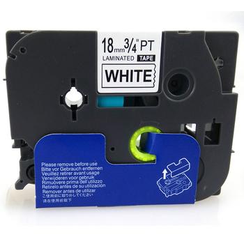 台灣榮工 BROTHER 相容 護貝 標籤帶 TZ-241 白底黑字 18mm