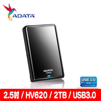 ADATA 威剛 HV620 2TB USB3.0 2.5吋行動硬碟(黑)
