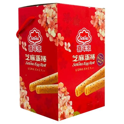 喜年來 芝麻蛋捲大發禮盒(384g/盒)