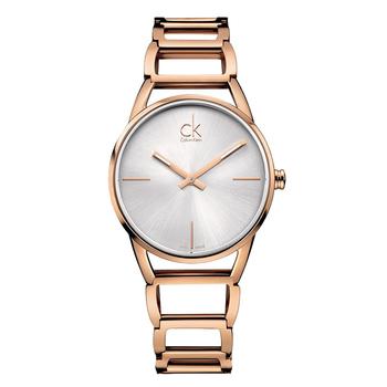 Calvin Klein Stately 時尚鏤空鍊帶腕錶(K3G23626 -玫瑰金)