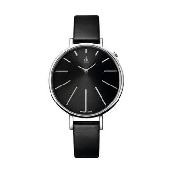 Calvin Klein Equal 夢幻時光名媛皮帶錶(K3E231C1-黑)