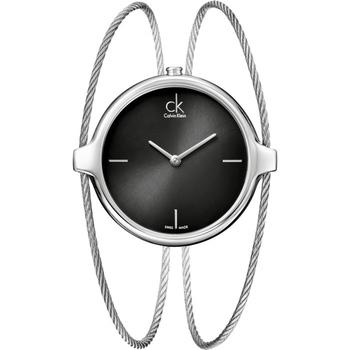 Calvin Klein Agile 凱文克萊鋼索手環錶(K2Z2S111-黑面-15cm)