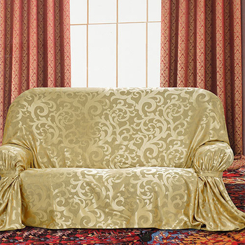 《布安於室》蔓澤DIY3人座沙發罩-金色