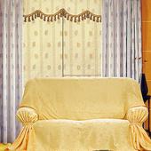 《布安於室》黃花葉DIY3人座沙發罩