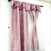 《布安於室》紫蘿蔓雙層遮光窗簾